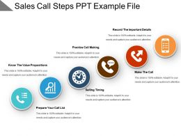 Sales Call Steps Ppt Example File