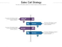 Sales Call Strategy Ppt Powerpoint Presentation Styles Deck Cpb