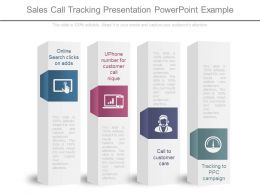 Sales Call Tracking Presentation Powerpoint Example