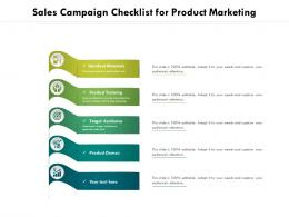 Sales Campaign Checklist For Product Marketing