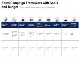 Sales Campaign Framework With Goals And Budget