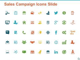 Sales Campaign Icon Slide Ppt Powerpoint Presentation Diagram Graph Charts