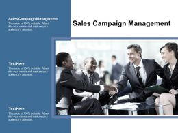 Sales Campaign Management Ppt Powerpoint Presentation Model Graphics Cpb