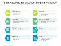 Sales Capability Enhancement Program Framework