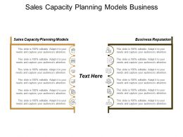 Sales Capacity Planning Models Business Reputation Supply Chain Management Cpb