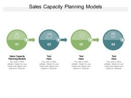 Sales Capacity Planning Models Ppt Powerpoint Presentation Show Example Cpb