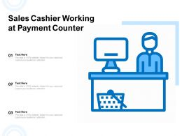 Sales Cashier Working At Payment Counter