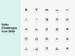 Sales Challenges Icon Slide L284 Ppt Powerpoint Presentation Icon
