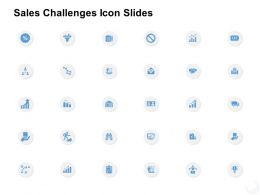 Sales Challenges Icon Slides Management K313 Ppt Powerpoint Presentation Template
