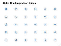 Sales Challenges Icon Slides Management K313 Ppt Powerpoint Presentation Template
