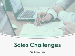 Sales Challenges Powerpoint Presentation Slides