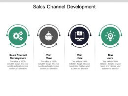 Sales Channel Development Ppt Powerpoint Presentation Inspiration Layouts Cpb