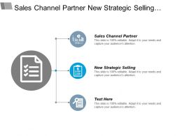 Sales Channel Partner New Strategic Selling Business Objects Cpb