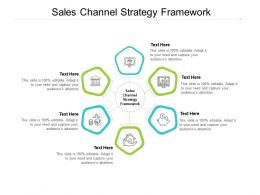 Sales Channel Strategy Framework Ppt Powerpoint Presentation Slides Infographics Cpb