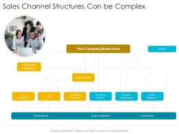 Sales Channel Structures Can Be Complex Startup Company Strategy Ppt Demonstration