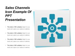 Sales Channels Icon Example Of Ppt Presentation