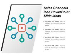 Sales Channels Icon Powerpoint Slide Ideas