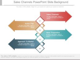 Sales Channels Powerpoint Slide Background