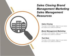 Sales Closing Brand Management Marketing Sales Management Resources