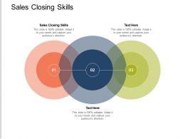 Sales Closing Skills Ppt Powerpoint Presentation Summary Ideas Cpb