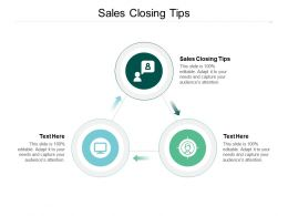 Sales Closing Tips Ppt Powerpoint Presentation Slides Demonstration Cpb