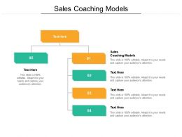 Sales Coaching Models Ppt Powerpoint Presentation Slides Graphics Download Cpb