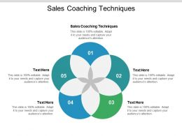 Sales Coaching Techniques Ppt Powerpoint Presentation Layouts Show Cpb