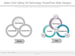 Sales Cold Calling Vs Technology Powerpoint Slide Designs