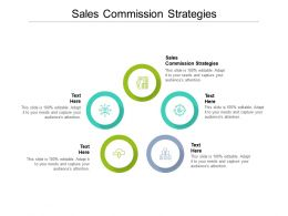 Sales Commission Strategies Ppt Powerpoint Presentation Slides Backgrounds Cpb