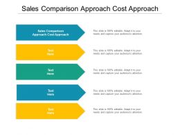 Sales Comparison Approach Cost Approach Ppt Powerpoint Presentation Show Slide Portrait Cpb