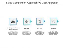 Sales Comparison Approach Vs Cost Approach Ppt Powerpoint Presentation Infographics Cpb