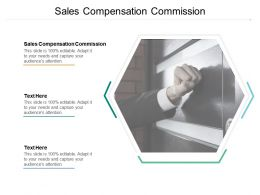 Sales Compensation Commission Ppt Powerpoint Presentation File Brochure Cpb
