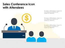 Sales Conference Icon With Attendees