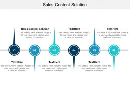 Sales Content Solution Ppt Powerpoint Presentation Slides Master Slide Cpb