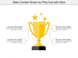 Sales Contest Shown By Prize Cup With Stars
