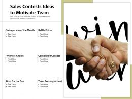 Sales Contests Ideas To Motivate Team