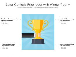 Sales Contests Prize Ideas With Winner Trophy