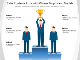Sales Contests Prize With Winner Trophy And Medals