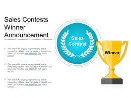 Sales Contests Winner Announcement