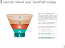 Sales Conversion Funnel Powerpoint Template