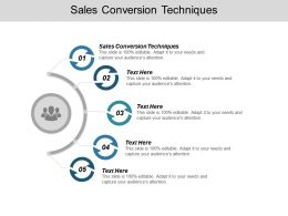 Sales Conversion Techniques Ppt Powerpoint Presentation Icon Introduction Cpb