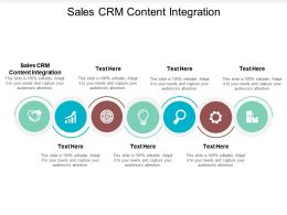 Sales CRM Content Integration Ppt Powerpoint Presentation Outline Demonstration Cpb