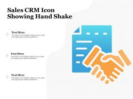 Sales CRM Icon Showing Hand Shake