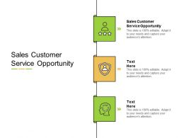 Sales Customer Service Opportunity Ppt Powerpoint Presentation Show Slides Cpb