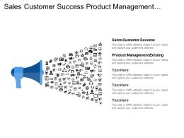 Sales Customer Success Product Management Existing Funds Intellectual Property