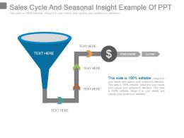 Sales Cycle And Seasonal Insight Example Of Ppt
