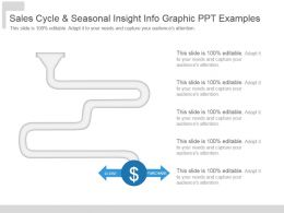 Sales Cycle And Seasonal Insight Info Graphic Ppt Examples