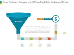 Sales Cycle And Seasonal Insight Powerpoint Slide Background Picture