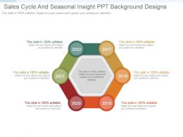 Sales Cycle And Seasonal Insight Ppt Background Designs