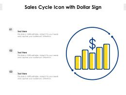 Sales Cycle Icon With Dollar Sign
